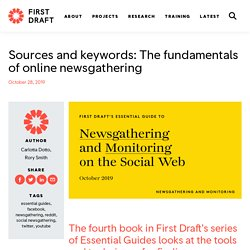 Sources and keywords: The fundamentals of online newsgathering