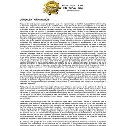 Fundamentals of Buddhism: Dependent Origination