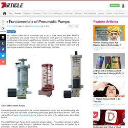 The Fundamentals of Pneumatic Pumps Article - SevenArticle.Com