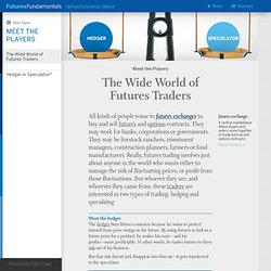 Hedger and Speculator: The Two Types of Futures Traders
