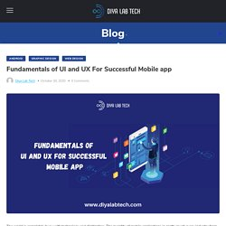 Fundamentals of UI and UX For Successful Mobile app Diya Lab Tech