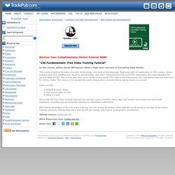 CSS Fundamentals- Free Video Training Tutorial, Free Lynda.com Inc. Online Tutorial