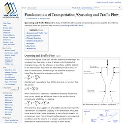 Fundamentals of Transportation/Queueing and Traffic Flow
