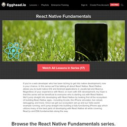 React Native Fundamentals - Lesson Series by @tylermcginnis33