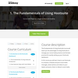 1. The Fundamentals of Using Hootsuite