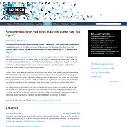 Remco Tuinier / DSM Fundamenteel onderzoek moet, maar niet alleen naar 'hot topics'