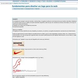 fundamentos para diseñar un logo para la web