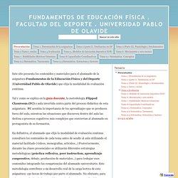 FUNDAMENTOS DE EDUCACIÓN FÍSICA . FACULTAD DEL DEPORTE . UNIVERSIDAD PABLO DE OLAVIDE