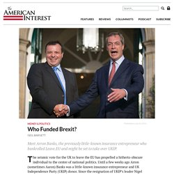 Who Funded Brexit? - The American Interest