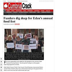Funders dig deep for Eden's annual food fest
