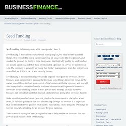 Seed Funding - Business Finance