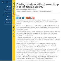 Funding to help small businesses jump in to the digital economy Sunshine Coast