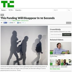 This Funding Will Disappear In 10 Seconds