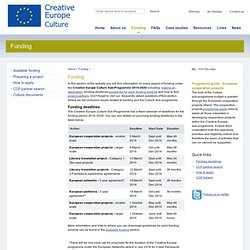 Funding - The European Cultural Contact Point Ireland