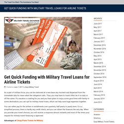 Get Quick Funding with Military Travel Loans for Airline Tickets