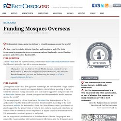Funding Mosques Overseas
