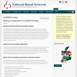 LEADER Funding « National Rural Network