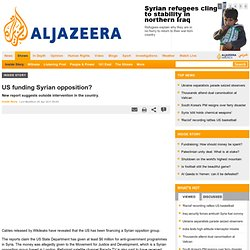 US funding Syrian opposition? - Inside Story