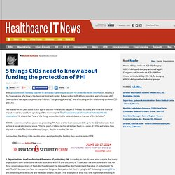 5 things CIOs need to know about funding the protection of PHI