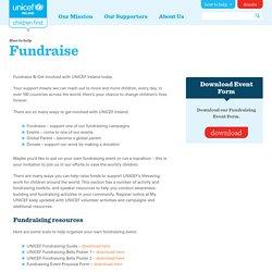 Fundraise - UNICEF Ireland