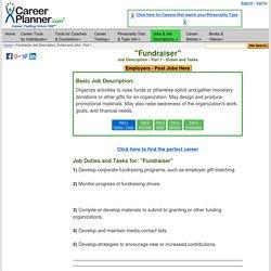 Fundraiser Job Description, Duties and Jobs - Part 1