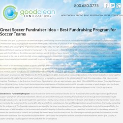 Great Soccer Fundraiser Idea - Best Fundraising Program for Soccer Teams - Soccer