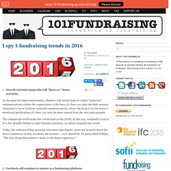 I spy 5 fundraising trends in 2016