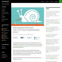 The Top Ten Fundraising Fails
