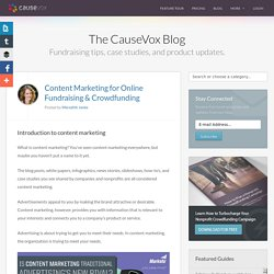 Content Marketing for Online Fundraising & Crowdfunding