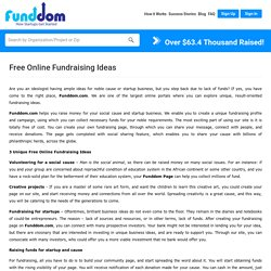 Get Free Online Fundraising Ideas for Different Causes