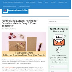Fundraising Letters: Asking for Donations Made Easy (+ Free Template)