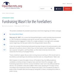 Fundraising Wasn't for the Forefathers