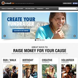 Online Fundraising Pages | Personal Internet Fundraisers | Fund Raise Online for Charity | Crowdrise