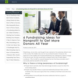6 Fundraising Ideas for Nonprofit to Get More Donors All Year