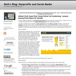 Beth's Blog: How Nonprofits Can Use Social Media: Alistair