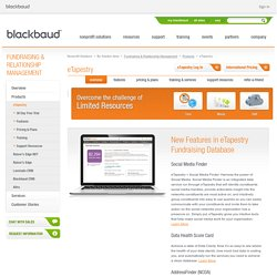Cloud Fundraising, Free Software for Nonprofits - Blackbaud eTapestry