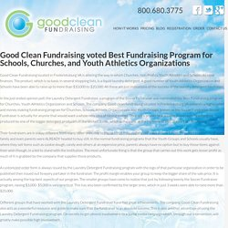 Good Clean Fundraising voted Best Fundraising Program for Schools, Churches, and Youth Athletics Organizations - Soccer