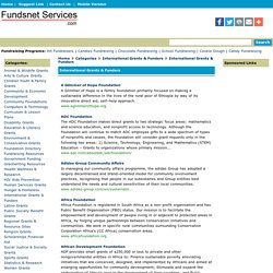 Grants and Fundraising Directory for nonprofit organizations and schools.
