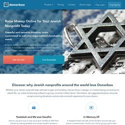 Jewish Fundraising - Fundraising platform for the Jewish community