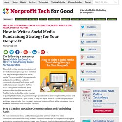 How to Write a Social Media Fundraising Strategy for Your Nonprofit