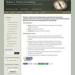 Robert L. Weiner Consulting: Strategic Technology Consulting for