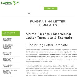 Fundraising Letter Templates