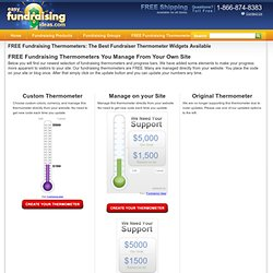 Fundraising Thermometer - Free Fundraiser Thermometer Widget