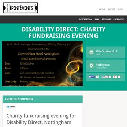 10 Oct: Disability Direct: Charity Fundraising Evening - TrentEvents