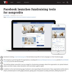 Facebook launches fundraising tools for nonprofits