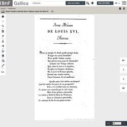 AUX MÂNES de LOUIS XVI.- Chant funèbre exécuté, 31 janvier 1817, paroles de M. Baour-Lormian
