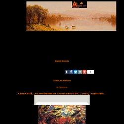 Carlo Carr ,Les Fun railles de l'Anarchiste Galli,1910,Futurisme, ducation,enseignement,analyse et etude de la toile et du style,art,culture,peinture
