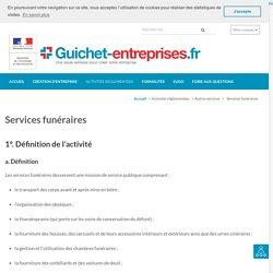 Services funéraires – Guichet-entreprises.fr