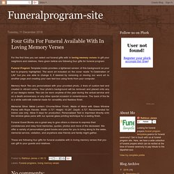 Four Gifts For Funeral Available With In Loving Memory Verses