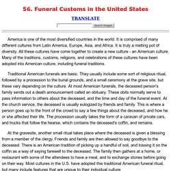 56. Funeral Customs in the United States
